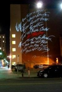 Roger Waters' Public Art Stunt in LA 01.05.2010
