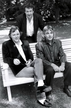 Rick Wright, Nick Mason and David Gilmour, 1988